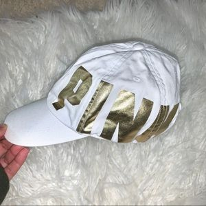 PINK White/Gold Hat